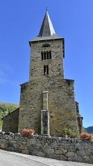 Eglise Sainte-Anne - Nederlands: Église Sainte-Anne de Cazeaux-de-Larboust klokkentoren