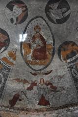 Eglise Sainte-Anne - Nederlands: Église Sainte-Anne de Cazeaux-de-Larboust - fresco in de koepel van het koor