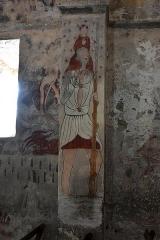 Eglise Sainte-Anne - Nederlands: Église Sainte-Anne de Cazeaux-de-Larboust fresco van Sint-Christoffel