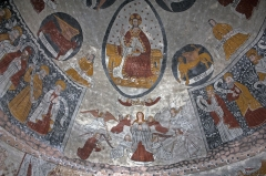 Eglise Sainte-Anne -  Assumption of the Virgin, with, from either side, two groups of unidentified characters. The congregation? ...