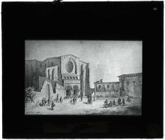 Ancien collège Saint-Raymond - Français:   La place Saint-Sernin, la basilique Saint-Sernin et le collège Saint-Raymond, devenu Musée Saint-Raymond, 1ter place Saint-Sernin. Mention manuscrite sur une étiquette collée: \