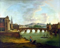 Eglise Notre-Dame-de-la-Daurade - Français:   Le pont Neuf à Toulouse, un tableau attribué à Pierre Joseph Wallaert, exposé au Musée du Vieux Toulouse.