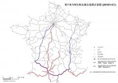 Gare de Toulouse-Matabiau - 中文: 图卢兹马塔比奥站通达范围示意图 (2016年4月)
