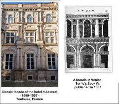 Hôtel d'Assézat et de Clémence Isaure - English: Influence of an engraving by Serlio.