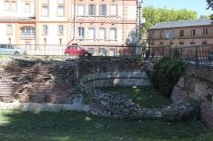 Rempart gallo-romain -  Vestiges de la muraille gallo-romaine