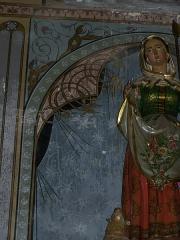 Eglise Notre-Dame, ancienne cathédrale - English: Art Nouveau decor in the side chapel dedicated to Sainte Germaine de Pibrac in Cathédrale Sainte Marie in Lombez