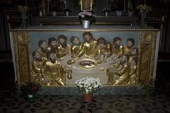 Chapelle Notre-Dame-de-Pitié - Français:   Maître-autel avec son devant-d\'autel (antependium): La Cène.
