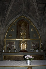 Chapelle Notre-Dame-de-Pitié - English:  Altarpiece of the high altar: Our Lady of Mercy.