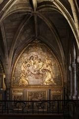 Chapelle Notre-Dame-de-Pitié - Français:   Intérieur de la chapelle Notre-Dame-de-Pitié de l\'église St Sauveur de Figeac, panneau à droite de l\'autel-retable: Mise au Tombeau.