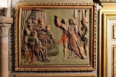 Chapelle Notre-Dame-de-Pitié - Français:   L\'église Saint-Sauveur à Figeac, chapelle N.D. de Pitié, premier panneau oriental: Jésus devant Pilate.