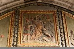 Chapelle Notre-Dame-de-Pitié - Français:   L\'église Saint-Sauveur à Figeac, chapelle N.D. de Pitié, premier panneau oriental: Baiser de Judas.