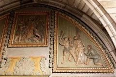 Chapelle Notre-Dame-de-Pitié - Français:   L\'église Saint-Sauveur à Figeac, chapelle N.D. de Pitié, premier panneau oriental: Baiser de Judas et Flagellation.