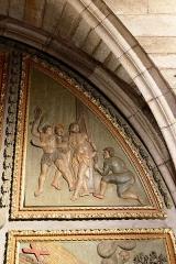 Chapelle Notre-Dame-de-Pitié - Français:   L\'église Saint-Sauveur à Figeac, chapelle N.D. de Pitié, premier panneau oriental: Flagellation.