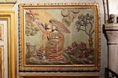 Chapelle Notre-Dame-de-Pitié - Français:   L\'église Saint-Sauveur à Figeac, chapelle N.D. de Pitié, premier panneau oriental: Jésus au Jardin des Oliviers.