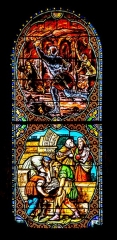 Eglise Saint-Sauveur - English: Stained-glass window of the Saint Saviour church of Figeac, Lot, France