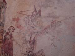 Eglise de Martignac -  fresque de l'église de Martignac