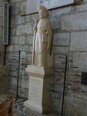 Eglise Saint-Sauveur et crypte Saint-Amadour - Français:   Statue de Saint-Jacques de Compostelle dans la basilique Saint-Sauveur de Rocamadour (Lot, France)