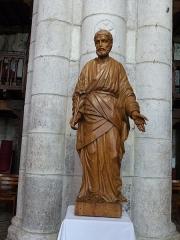 Eglise Saint-Sauveur et crypte Saint-Amadour - Français:   Statue de Saint-Joseph dans la basilique Saint-Sauveur de Rocamadour (Lot, France)