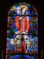 Eglise Saint-Sauveur et crypte Saint-Amadour - Français:   Vitrail situé derrière l\'autel, dans le chœur de la basilique Saint-Sauveur de Rocamadour (Lot, France)
