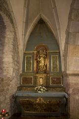 Eglise Notre-Dame - Français:   Autel et retable de la chapelle Notre-Dame (2e moitié 18e siècle;1ère moitié 19e siècle)