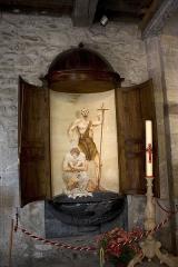 Eglise Notre-Dame - Français:   Bénitier reconverti en fonds baptismaux.