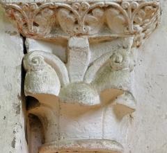 Eglise de Mazères - Français:   Castelnau-Rivière-Basse - Mazères - Église Saint-Jean-Baptiste - Intérieur - Chapiteau à volutes