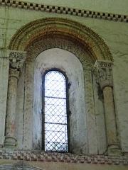 Eglise de Mazères - Français:   Castelnau-Rivière-Basse - Mazères - Église Saint-Jean-Baptiste - Intérieur - Fenêtre nord du choeur