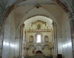 Eglise de Mazères - Français:   Castelnau-Rivière-Basse - Mazères - Église Saint-Jean-Baptiste - Intérieur, vers le chevet