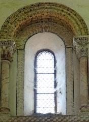 Eglise de Mazères - Français:   Castelnau-Rivière-Basse - Mazères - Église Saint-Jean-Baptiste - Intérieur - Une fenêtre du chevet