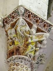 Eglise de Mazères - Français:   Castelnau-Rivière-Basse - Mazères - Église Saint-Jean-Baptiste - Intérieur - Chevet - chapiteau: Sacrifice d\'Abraham