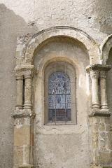 Eglise de l'Assomption -  Vue des colonnes extérieures de l\'abside et des absidioles de l\'église de l\'Assomption de Maubourguet / Hautes-Pyrénnées, France