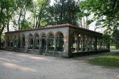 Ancienne abbaye -  Cloister of the Saint-Sever-de-Rustan abbey, now in the Jardin Massey of Tarbes (Hautes-Pyrénées, France)