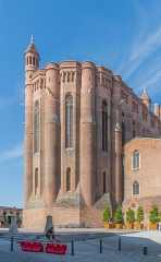 Cathédrale Sainte-Cécile - English: East facade of the Saint Cecilia Cathedral of Albi, Tarn, France        This place is a UNESCO World Heritage Site, listed as Cité épiscopale d'Albi.  العربية | asturianu | беларуская | беларуская (тарашкевіца)‎ | বাংলা | català | čeština | dansk | Deutsch | English | español | euskara | فارسی | français | עברית | hrvatski | magyar | italiano | 日本語 | 한국어 | latviešu | македонски | മലയാളം | مازِرونی | Nederlands | polski | português | português do Brasil | română | русский | sicilianu | slovenčina | slovenščina | Türkçe | українська | Tiếng Việt | 中文 | 中文(中国大陆)‎ | 中文(简体)‎ | 中文(繁體)‎ | 中文(台灣)‎ | +/−