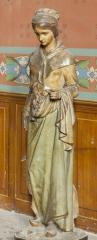 Eglise Saint-Michel - English:   Abbaye Saint-Michel de Gaillac. Gaillac. Occitanie, Tarn. France. Former abbey (Abbaye Saint-Michel de Gaillac). The church. Interior. A polychrome statue. Ref: PM_117814_F_Gaillac. Photo: Paul M.R. Maeyaert. pmrmaeyaert@gmail.com. www.polmayer.com. © Paul M.R. Maeyaert; pmrmaeyaert@gmail.com