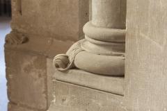 Eglise Saint-Michel - English:   Abbaye Saint-Michel de Gaillac. Gaillac. Occitanie, Tarn. France. Former abbey (Abbaye Saint-Michel de Gaillac). The church. Interior. The south ambulatory. A pillar basement. Ref: PM_117817_F_Gaillac. Photo: Paul M.R. Maeyaert. pmrmaeyaert@gmail.com. www.polmayer.com. © Paul M.R. Maeyaert; pmrmaeyaert@gmail.com