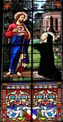 Eglise Saint-Pierre - Français:   Gaillac - Église Saint-Pierre - Vitrail de l\'apparition du Sacré Cœur à sainte Marguerite-Marie, signé J. Fauré, Gaillac