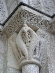 Eglise Saint-Michel - Deutsch: Kirche Saint-Michel in Lescure-d'Albigeois, Portal-Kapitell rechts innen