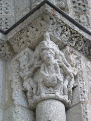 Eglise Saint-Michel - Deutsch: Kirche Saint-Michel in Lescure-d'Albigeois, Portal-Kapitell rechts außen