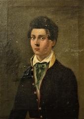 Ancienne église Saint-Martin - Français:   Abbaye-école de Sorèze - Portrait de jeune sorézien au collet jaune. Peut-être un autoportrait par A. d\'Assézat (1833)
