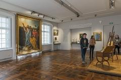 Ancien palais épiscopal, ancien Hôtel de ville, actuellement musée Ingres - English:  Musée Ingres, Montauban, Tarn et Garonne, France. Intimate Ingres room.