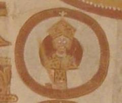 Eglise Saint-Martin - Français:   Église Saint-Éloi, détail du plafond du chœur: une tête