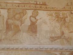 Eglise Saint-Martin - Français:   Chalivoy-Milon mur nord, registre supérieur: entrée dans Jérusalem