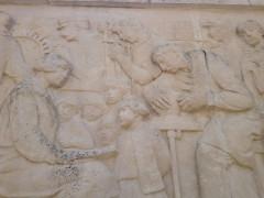 Jardin de l'Abbaye, dit aussi square Lucien Beaufrère - Français:   Vierzon Art déco Jardin abbaye monument aux morts détail métiers