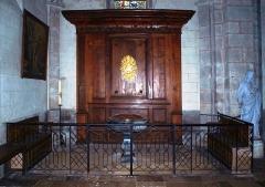 Eglise Notre-Dame - Bonneval (Eure-et-Loir , France) , l'église: baptistère.