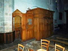 Eglise Notre-Dame - Bonneval (Eure-et-Loir , France) , l'église: le confessional.