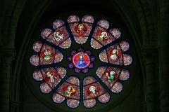 Eglise Notre-Dame -  Eglise Notre-Dame - rosace - Bonneval (Eure-et-Loir)