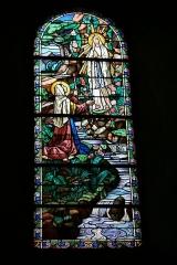 Eglise Notre-Dame -  Apparition de la Vierge à Bernadette Soubirous, à Lourdes. Vitrail de l'église Notre-Dame - Bonneval (Eure-et-Loir - France)