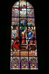 Eglise Notre-Dame -  Jésus, enfant, enseignant au Temple de Jérusalem. Vitrail de l'église Notre-Dame - Bonneval (Eure-et-Loir - France)