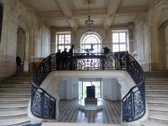 Ancien évêché et ses jardins, actuellement Musée des Beaux-Arts - entrée du musée des beaux-arts, Chartres, Eure-et-Loir (France).