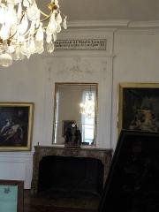 Ancien évêché et ses jardins, actuellement Musée des Beaux-Arts - Témoignage du séjour de Napoléon et Marie-Louise du 2 au 4 juin 1811, musée des Beaux-Arts, Chartres, Eure-et-Loir, France.